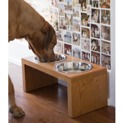 MuirReclaimed Wooden Elevated Dog Bowls: $107