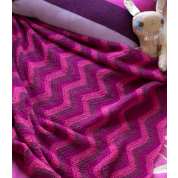 Alpaca Afghan: Desert Pink:  SOLD OUT