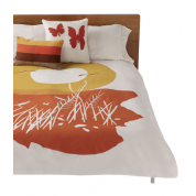 Sunset Duvet Cover: Orange Organic Cotton $270