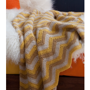 Alpaca Afghan: Sunshine Yellow:  $287