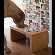 MuirReclaimed Wooden Elevated Dog Bowls: $107